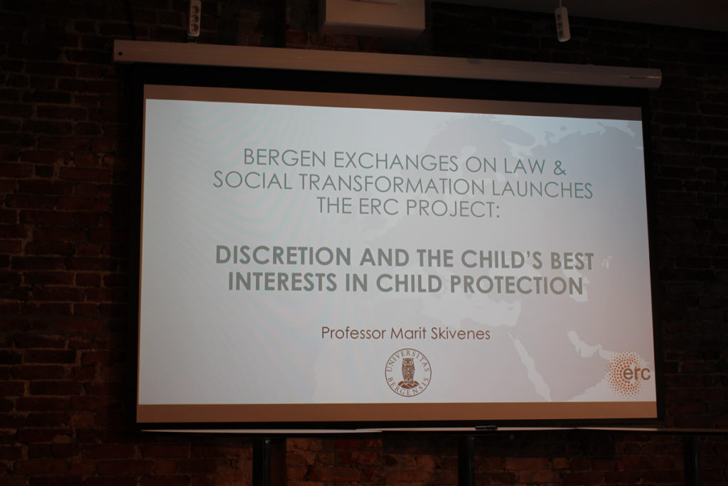 Launch of our ERC-project DISCRETION at Bergen Exchanges 2017