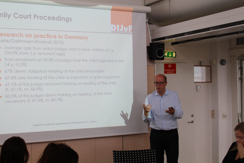 Thomas Meysen presenting at our workshop in August 2017