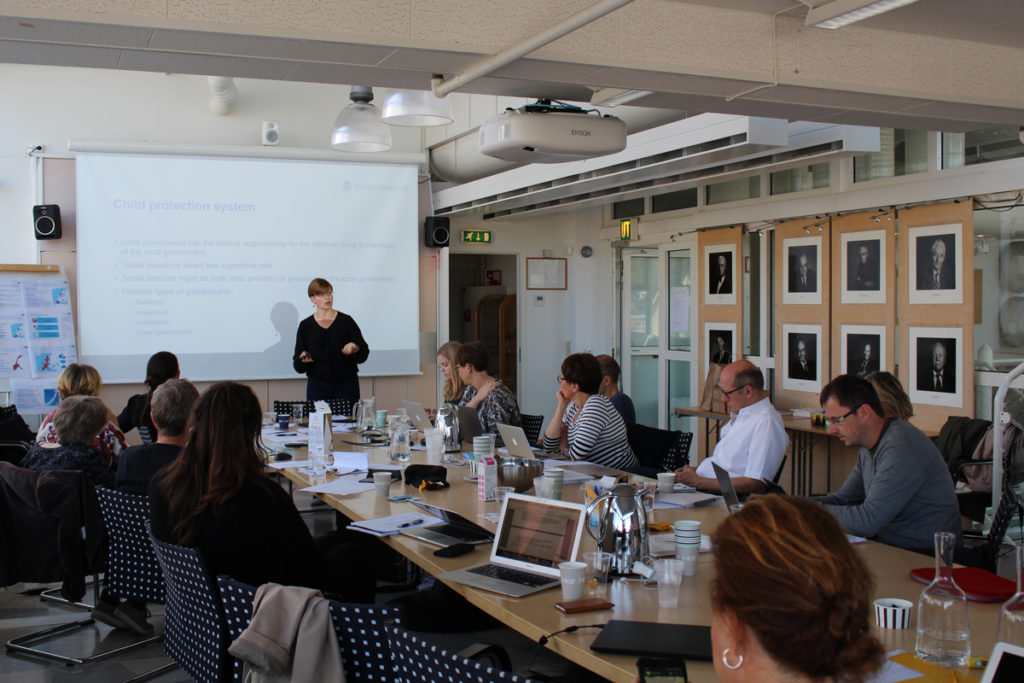 Katre Luhamaa presenting at our workshop august 2017