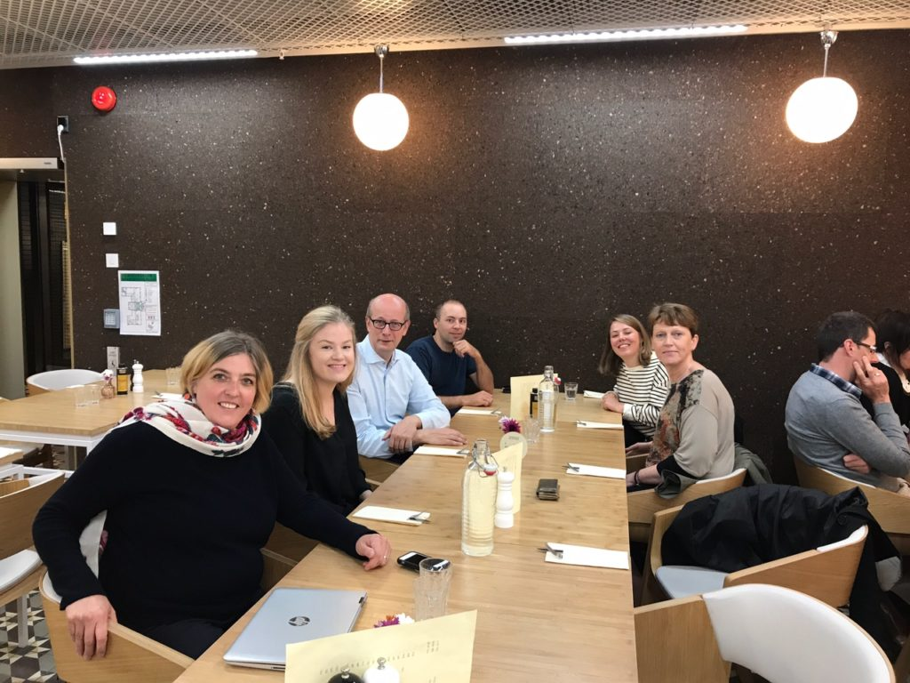 Lunch at the workshop in Bergen august 2017