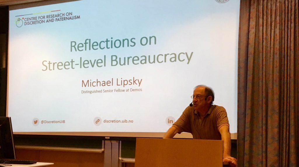 Michael Lipsky at the guest lecture Reflections on Street-level Bureaucracy, June 2018.