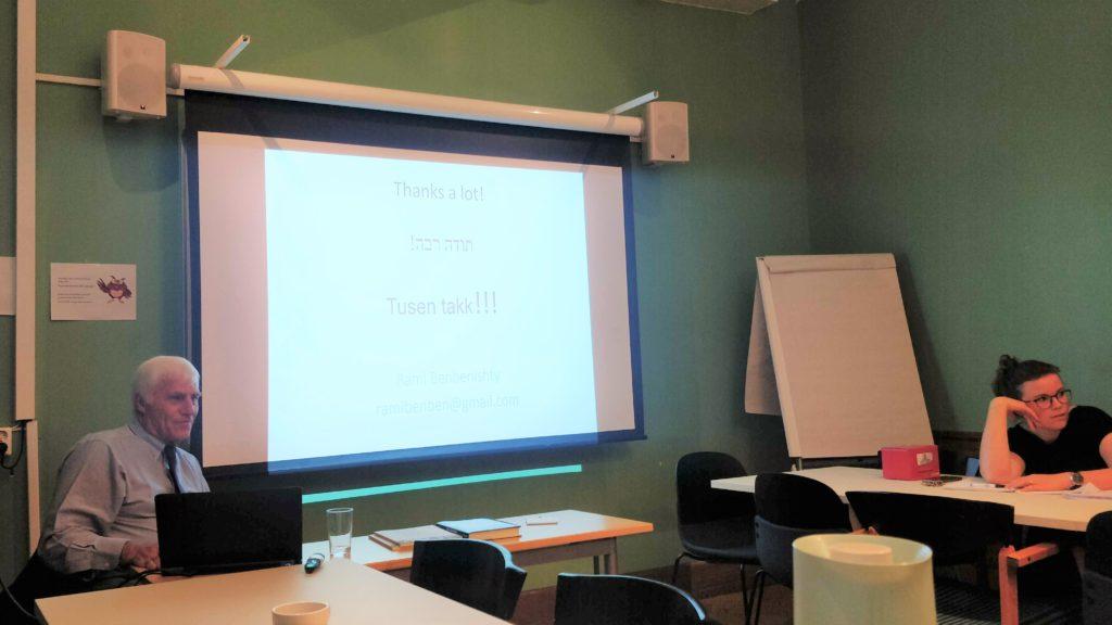 Visiting scholar Rami Benbenishty presenting at seminar at the Centre in September 2019.