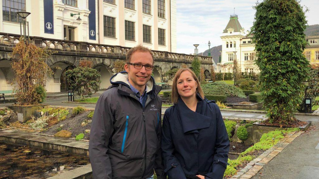 Visiting scholar Matthias Braun and Senior Researcher Jenny Krutzinna in November 2019